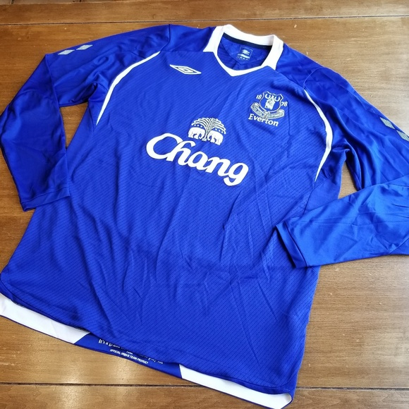 finest selection f04ad 6771d Umbro long sleeve Chang Everton soccer jersey